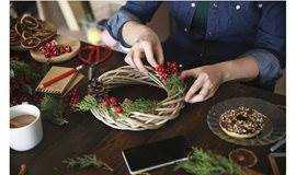 【由心咖啡】匠心手作 | 圣诞花环