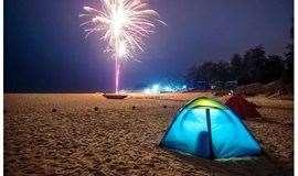 2天游【端午节】惠州双月湾露营、畅游广东最长最美海滩、烧烤、出海捕鱼、篝火晚会、挖沙蟹