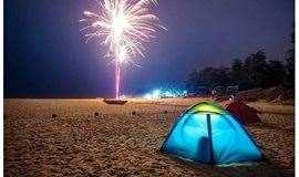 2天游【周末】惠州双月湾狮子岛露营、畅游广东最长最美海滩、烧烤、出海捕鱼、篝火晚会、挖沙蟹
