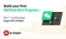 #AnyoneCanCode Workshop - Build your first WeChat Mini-Program #全民编程工作坊 - 制作你的第一个微信小程序