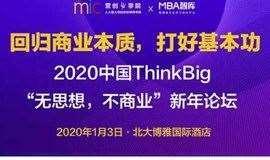 2020中国ThinkBig新年论坛,回归商业本质打好基本功