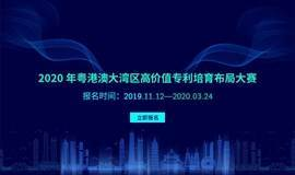 2020年粤港澳大湾区高价值专利培育布局大赛【深圳站】