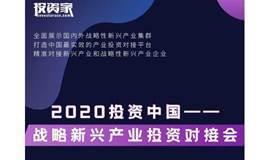 2020投资中国-战略新兴产业投资对接会
