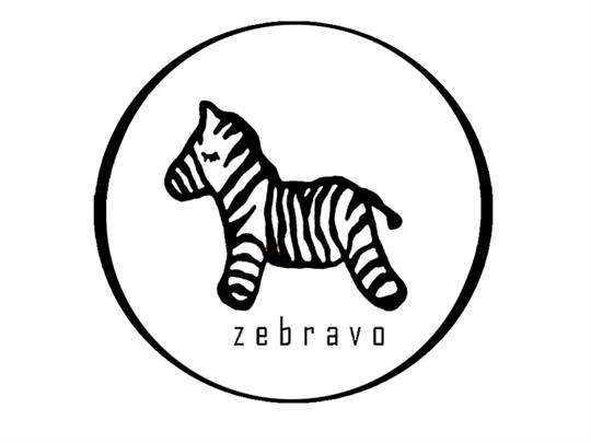 斑马在动物园里的简笔画