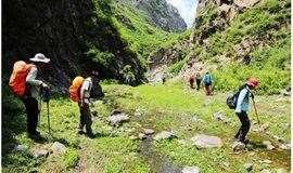 5.18:原生态峡谷野狼谷,徒步大约13公里,涞水九龙峡谷,,