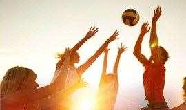 广州大学城排球活动