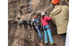 """5月31号挑战清远刺激""""高级版飞拉达""""户外悬崖攀岩、丹霞地貌"""