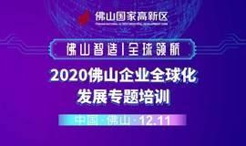 """""""佛山智造·全球领航""""2020佛山企业全球化发展专题培训"""