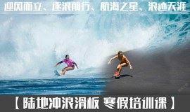 寒假班开始招生了!陆地冲浪滑板培训课一次可学习冲浪+滑板+滑雪三项运动知识