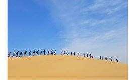 五一装备免费   库布齐沙漠 轻装徒步露营,来一次极致的沙漠体验