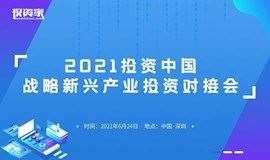 2021投资中国-战略新兴产业投资对接会
