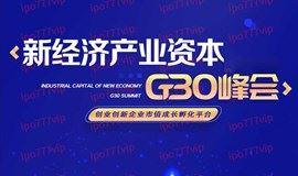 新经济产业资本·G30峰会·苏州站
